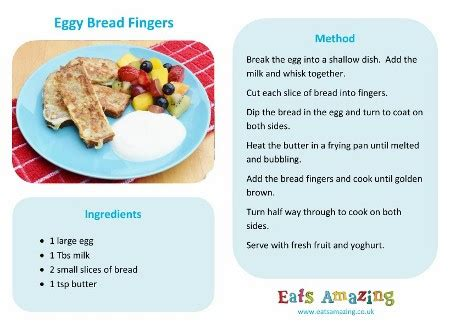 printable simple recipes easy recipes for kids eggy bread fingers eats amazing