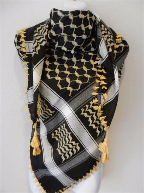 Saudia Scarf scarf keffiyeh shemagh arab original authentic quality palestine yemen tactical4
