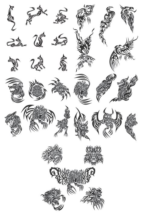 animal tribal tattoos tribal animal tattoos vector vector graphics