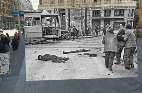 madrid en guerra la el madrid de la guerra civil y el actual unidos en google street fotos
