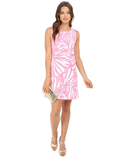 lilly pulitzer callie shift dress in pink lyst
