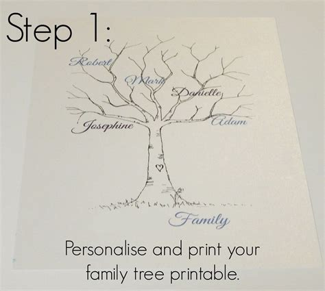 Family Tree Template Family Tree Thumbprint Template Pinteres Family Tree Sle Template