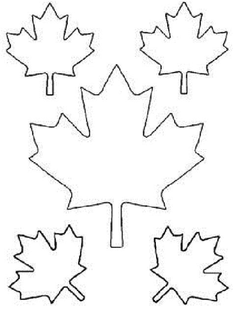 coloring page of a maple leaf maple leaf cut out templates of canada day coloring pages