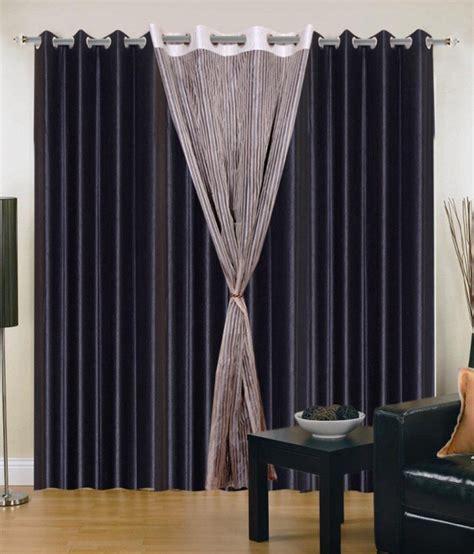Black Window Curtains Brand Decor Plain Black Window Curtains Buy Brand Decor Plain Black Window Curtains At