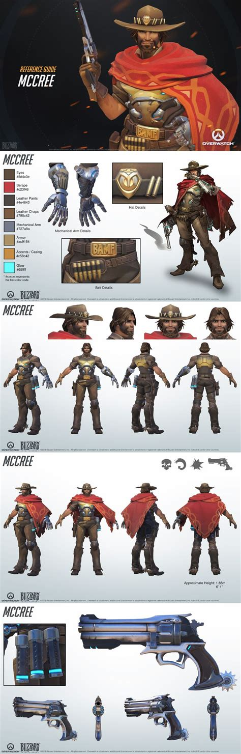 overwatch world guide overwatch mccree reference guide character sheet the residents design and cosplay