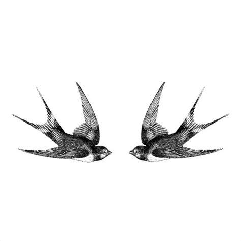deux hirondelles vintage tatouage temporaire motif tatouage