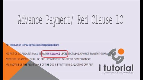 Letter Of Credit Clauses advance payment letter of credit in clause