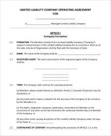 Operating Agreement Llc Virginia Template sample operating agreement 9 examples in word pdf