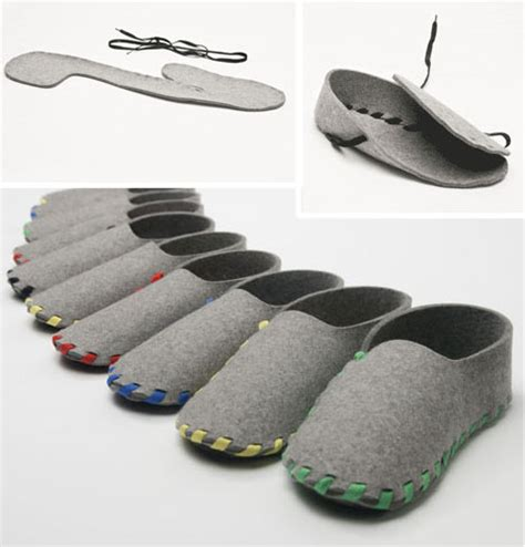 design slippers single step slippers made of one shoelace of felt