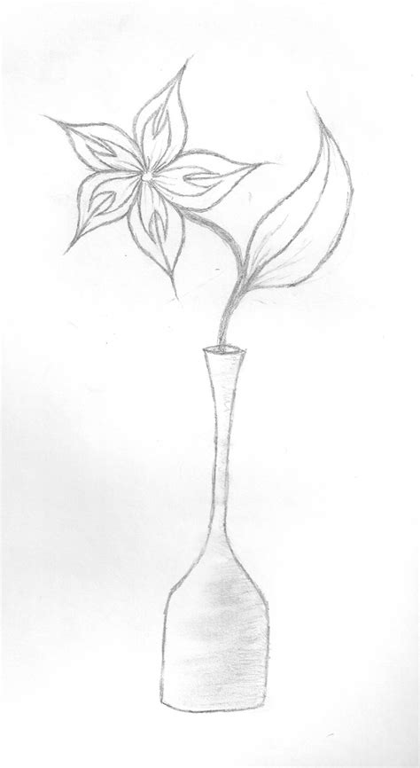 how to draw vase of flowers