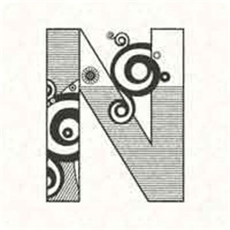 abstract letter coloring pages abstract letter n alphabet coloring