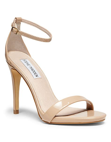 steve madden strappy sandals steve madden stecy strappy sandals in pink lyst