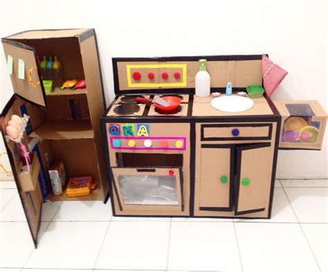 DIY kitchen set from cardboard   DIY kitchen set from