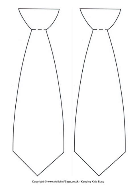 template for tie neck tie templates print on card stock and make a