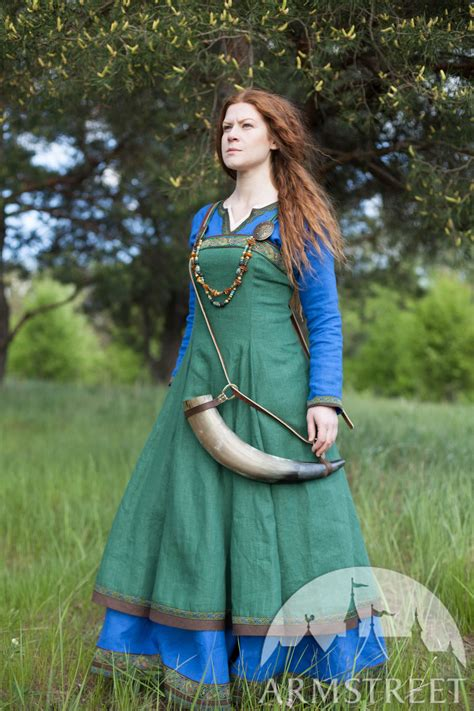 linen viking apron garb quot ingrid quot available in green flax