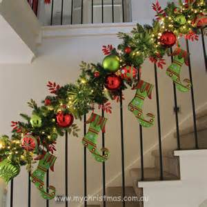Christmas Banister Ideas Christmas Garland Ideas Staircase Best Staircase Ideas
