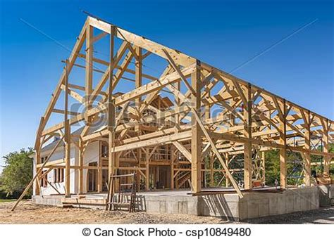 house construction stock photo image of framing pictures of new house construction framing with room for