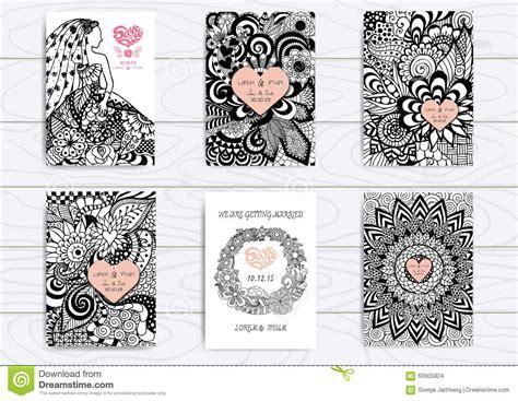 doodle crear calendario sistema de zentangle dibujado mano en la plantilla a4 para