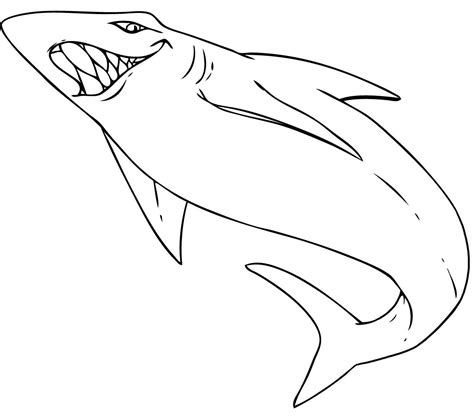 free printable shark coloring pages for kids