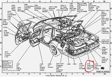 1996 lincoln continental radio wiring diagram wiring