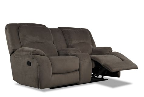 Loveseats With Recliners by Claudius Reclining Loveseat W Console Living Spaces