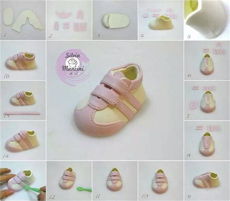 template for fondant baby shoes pin by on figuritas baby shoes