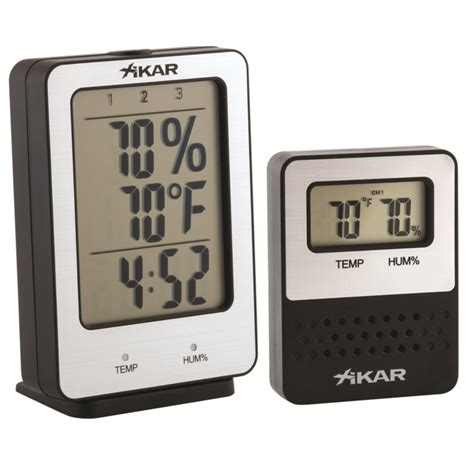 Thermometer Digital Corona xikar puro temp digital hygrometer hacico hamburger cigarren contor