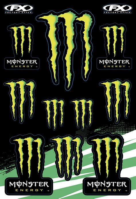 Monster Energy Sticker Shop by Factory Effex Sponsor Stickers Monster Energy Kit 12