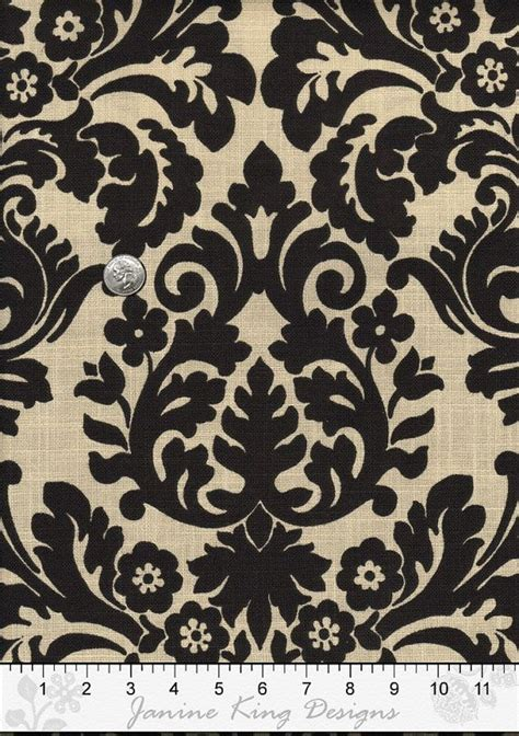 Black Damask Upholstery Fabric by Damask Fabric By The Yard Waverly Essence Onyx Harmonics