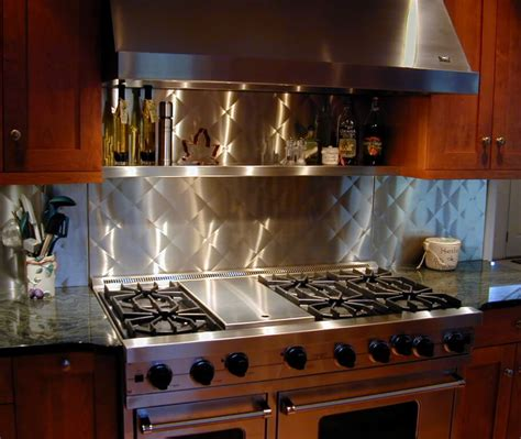 metal backsplash kitchen stainless steel backsplashes custom