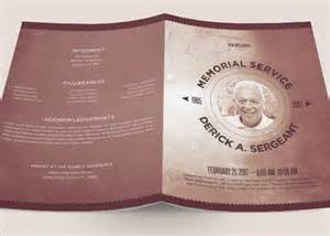 Funeral Memorial Templates by Sle Funeral Program 11 Documents In Pdf Psd