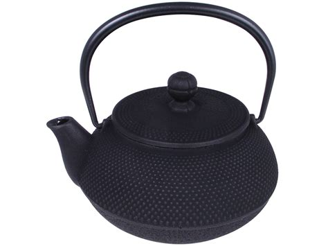 Elegant Kitchen Canisters by Multi Dots Pattern Black Cast Iron Japanese Iwachu Teapot