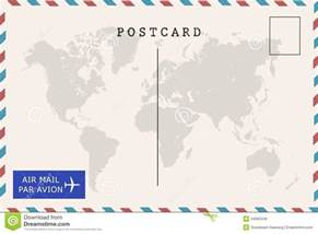 Airmail Postcard Template by Back Of Airmail Blank Postcard Stock Photo Image 54060449
