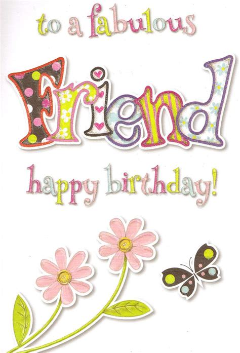 special good friend birthday card cute traditional female