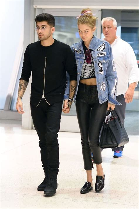 zayn malik and gigi hadid jet out of new york as singer