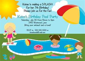 river photo greetings pool birthday invitation