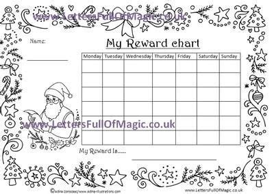 santa chart com santa reward chart pose 3 colour in by www lettersfullofmagic co uk santa and