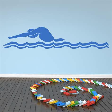 butterfly swimmer wall sticker sport wall art