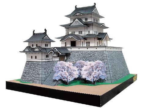 Japan Papercraft - igaueno castle papercraft japanese architecture model kit