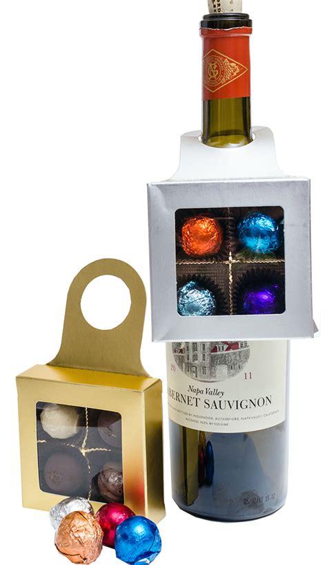 wine bottle hanger with 4 truffles
