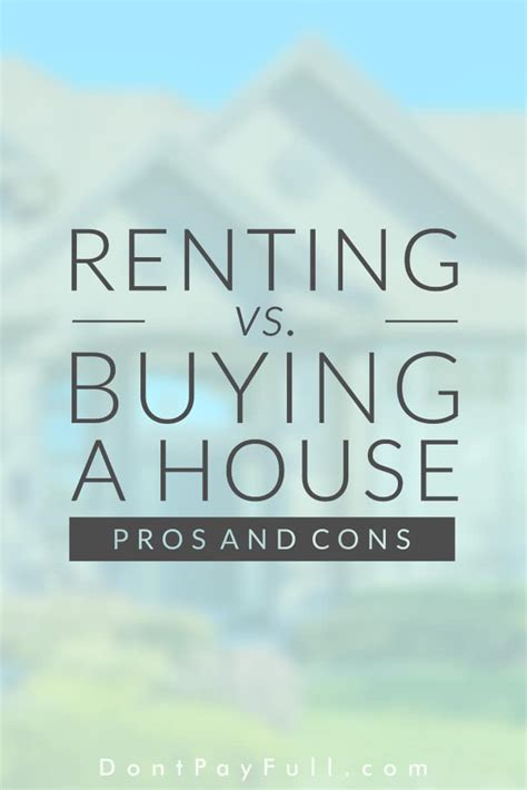 renting vs buying a house renting vs buying a house pros cons