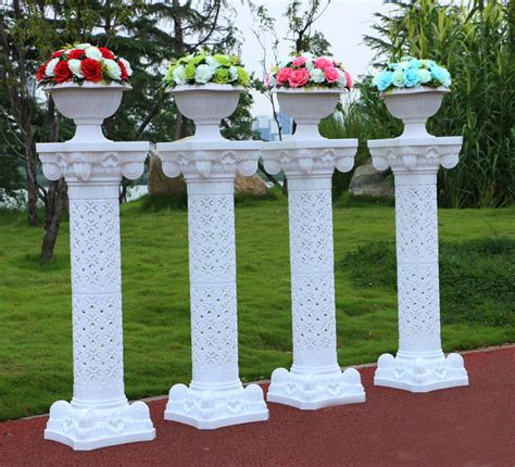 Pillars For Home Decor by Plastic Pillars For Decoration Home Decorating Ideas