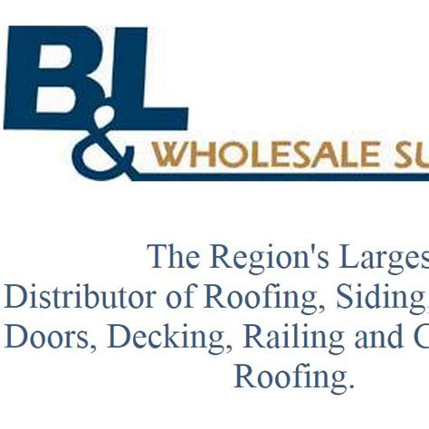 B And P L Supply by B L Wholesale Supply Bandlwholesale