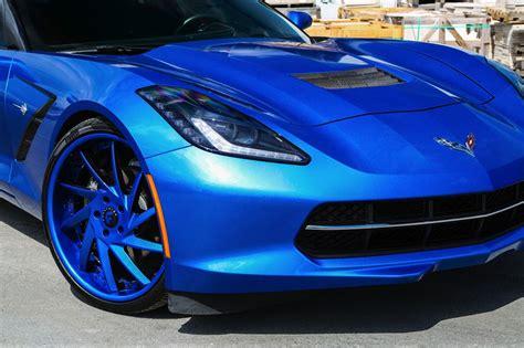 blue corvette blue on blue corvette by forgiato wheels