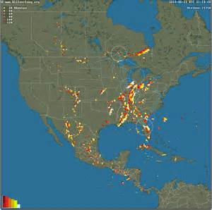 realtime map of lightning strikes