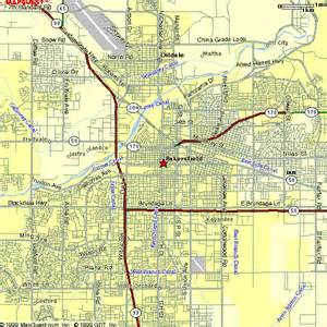 map of bakersfield california bakersfield gif 53147 bytes