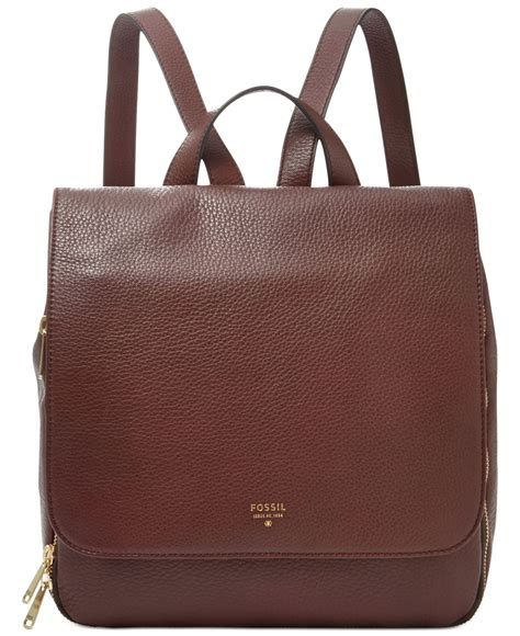 Fossil Phoeboe Backpack Colorfull New lyst fossil leather backpack in brown