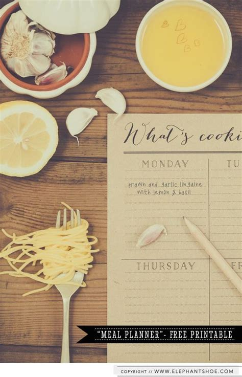 pretty printable meal planner so cute free meal and fonts on pinterest