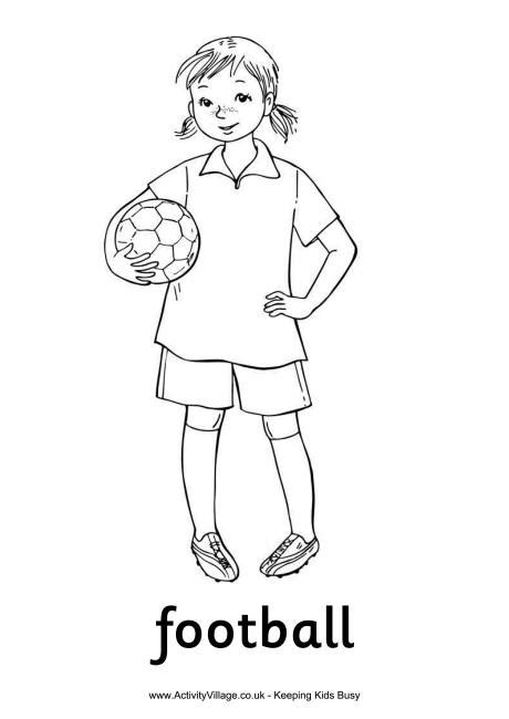football colouring page