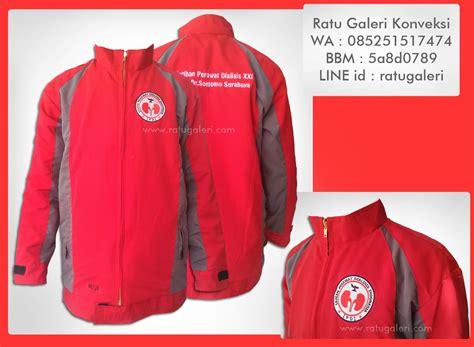 desain jaket resleting hasil produksi dan desain jaket ikatan perawat dialisis